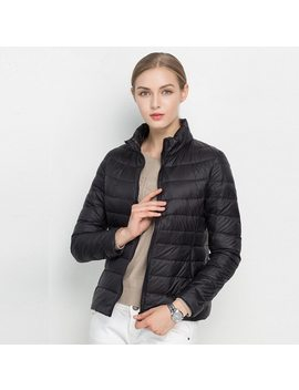 Johnature 2018 New Women Coat Autumn Winter 90% White Duck Down Jacket  16 Colors Warm Slim Zipper Fashion Light Down Coat S 3 Xl by Johnature