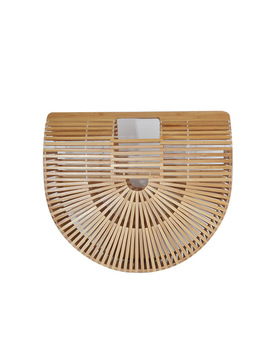 2018 Summer Women Handbag Travel Woman Bamboo Bag Female Handmade Woven Straw Beach Bag Ladies Bamboo Handbags Bolso Bambu  by Hkmenglu