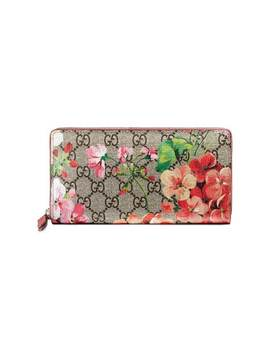 Gucci Gg Blooms Supreme Zip Around Wallet by Gucci