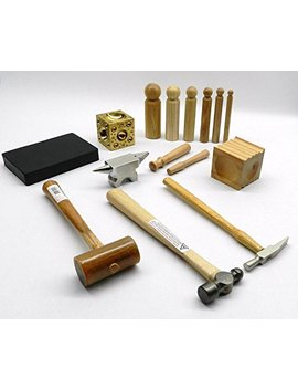 Metalsmith Tool Kit Basic Blocks Hammers Metal Smithing Jewelry Making Tools Set (Lz 7.5 R Box A) Noveltools by Ace
