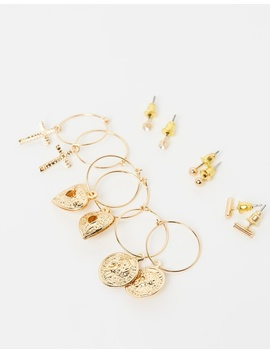 Charm Earrings Multipack by Missguided