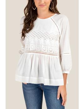 Rhoda Crochet Peplum Blouse by Francesca's