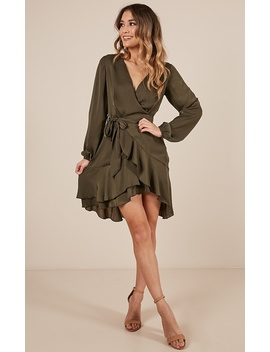 Lots To Give Dress In Khaki by Showpo Fashion