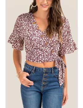 Karissa Floral Crop Top by Francesca's