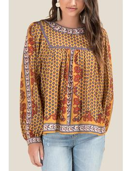 Sally Patterned Peasant Blouse by Francesca's