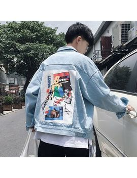Printed Denim Jacket by Besto