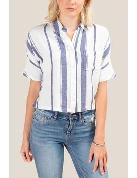 Rachel Striped Button Down Top by Francesca's