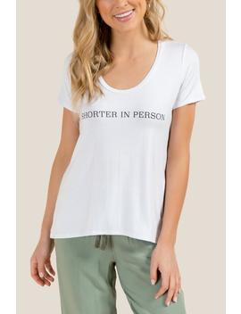Kora Shorter In Person Graphic Tee by Francesca's