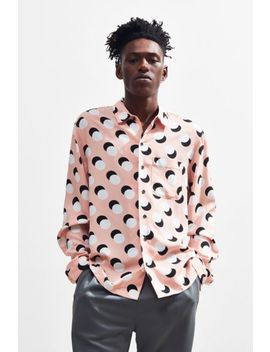 Uo Long Sleeve Rayon Button Down Shirt by Urban Outfitters