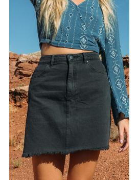 Harper Heritage Black Denim Skirt by Francesca's
