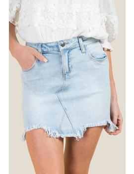 Harper Lite Chewy Hem Denim Skirt by Francesca's