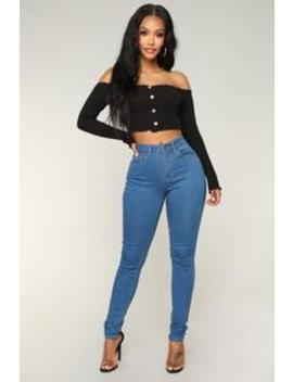 Never Call Me High Rise Jeans   Medium Blue Wash by Fashion Nova