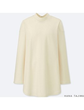 Women Hpj Mock Neck Long Sleeve Tunic by Uniqlo