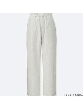 Women Hana Tajima Flannel Tapered Trousers by Uniqlo