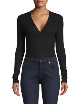 Trapunto V Neck Bodysuit by Atm Anthony Thomas Melillo
