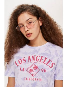 Los Angeles Tie Dye Cropped T Shirt by Topshop
