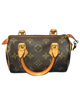 Speedy Mini Leather Satchel by Louis Vuitton