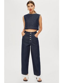 **Contrast Stitch Jeans By Boutique by Topshop