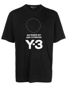 Y 3 Stacked Logo Teehome Men Y 3 Clothing T Shirtsside Stripe Sweatpants Stacked Logo Tee by Y 3