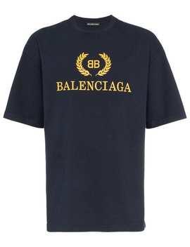 Balenciaga Bb Logo T Shirthome Men Balenciaga Clothing T Shirts by Balenciaga