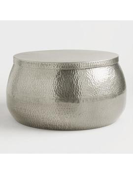 Silver Hammered Metal Cala Coffee Table by World Market