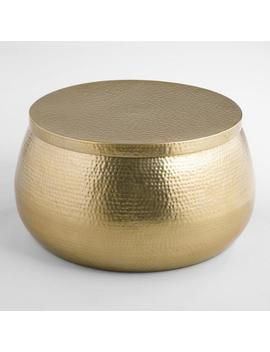 Gold Hammered Metal Cala Coffee Table by World Market