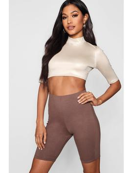 High Shine 3/4 Sleeve Crop by Boohoo
