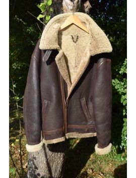 "Mens Aviator Flying Jacket Sheepskin Size L Xl Fab Condition Teodem Italy 44 46"" by Ebay Seller"