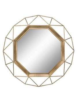 Octagon Mirror Gold 30 X 30   Stonebriar Collection by Shop All Stonebriar Collection