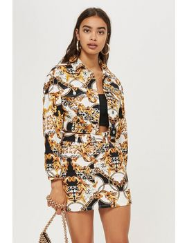 Chain Print Denim Jacket by Topshop