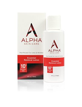 Alpha Skin Care   Essential Renewal Lotion, 10 Percents Glycolic Aha, Real Results For Lines And Wrinkles| Fragrance Free And Paraben Free| 4 Ounce (Packaging... by Alpha Skin Care