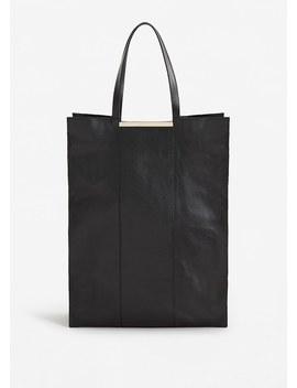 Кожаная сумка шоппер Xxl by Mango