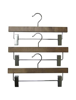 Refined Closet™ 3 Pack Skirt/Pants Hanger In Walnut by Bed Bath And Beyond