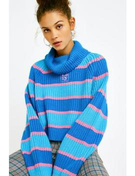 Lazy Oaf Stripe Roll Neck Jumper by Lazy Oaf
