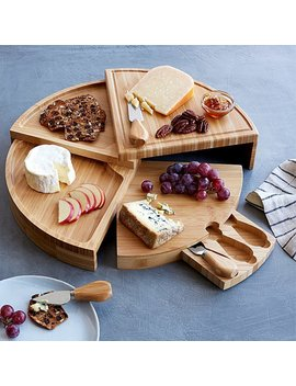 Compact Swivel Cheese Board With Knives by Uncommon Goods