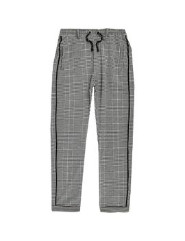 Boys Grey Check Trousers by River Island