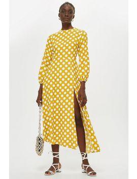 Polka Dot Midi Dress by Topshop