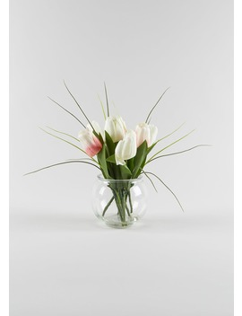 Tulips In Vase (32cm) by Matalan