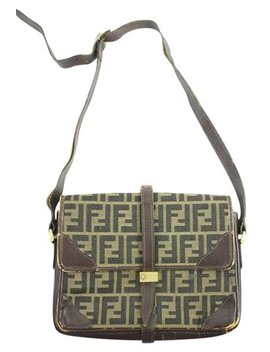 Ff Monogram 14ffa1025 Brown Shoulder Bag by Fendi