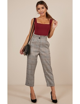 Dance To This Pants In Grey Check by Showpo Fashion