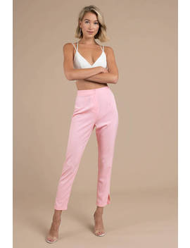 Risky Business Light Pink Tailored Pants by Tobi