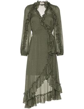 Zimmermann Cascade Wrap Midi Dresshome Women Zimmermann Clothing Day Dresses by Zimmermann