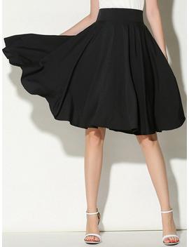 High Waist Pleated Skirt by Sheinside