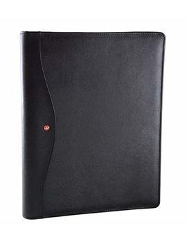 Alpine Swiss Genuine Leather Writing Pad Portfolio Business Case For Left & Right Handed Use With Tablet Sleeve by Alpine+Swiss