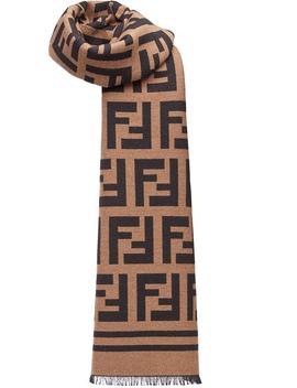 Fendi Ff Logo Scarfhome Men Fendi Accessories Scarves by Fendi