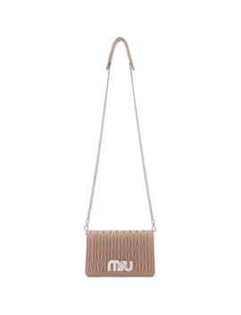 Pink Matelassé Bag by Miu Miu