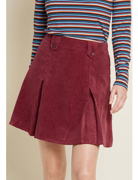 Perky Participant Corduroy Skirt by Modcloth