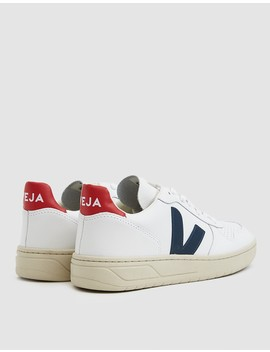 V 10 Sneaker In White Nautico by Veja