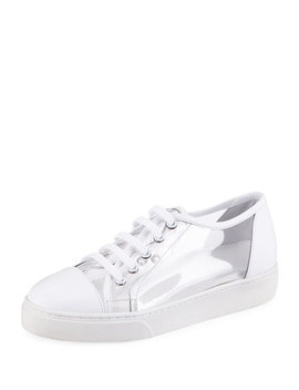 Pvc Lace Up Platform Sneakers by Here/Now