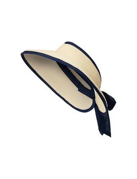 Beach Collection   Natural Bow Visor by Beach Collection